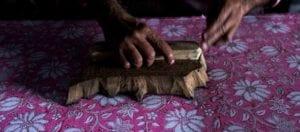oni earth-kind fabrics login background - bagru India -10012