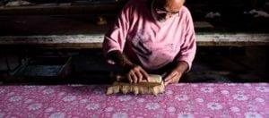 oni earth-kind fabrics login background - bagru India -10011