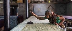 oni earth-kind fabrics login background - bagru India -1007