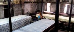 oni earth-kind fabrics login background - bagru India -1006