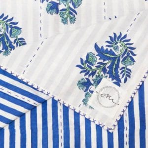 "British-Raj-Kantha-Oni-Fabrics - SS17 - ""Kanthas"" Bedspreads - oni earth-kind fabrics"