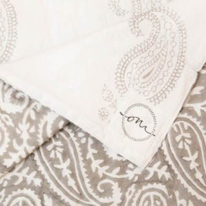 Jaipur-Grey-Quilt-Oni-Fabrics - SS17 - Quilts - oni earth-kind fabrics