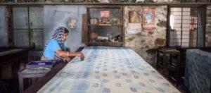 oni earth-kind fabrics login background - bagru India -10020