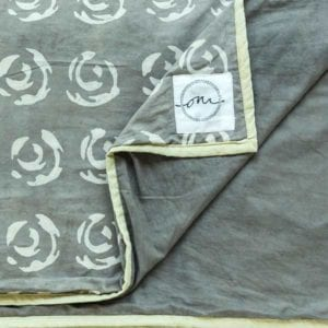 Bagru-Rose-Dohar - Suitable for a Single Bed, 140x210cms - Handblock printed - Non-toxic - eco-friendly dyes - Weight: 1 kg = Oni Earth-kind Fabrics